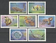 Tanzania 1995 Marine/medusas/PULPO/Shark/Naturaleza/vida salvaje 7v Set (b5840)