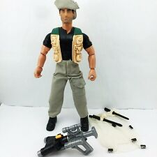 "Hasbro 1998 NIB 12"" Action Man with Gun Net Trapper figure Boy Kid Baby Toy Doll"
