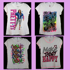 Justice Girls T-Shirts Tops Tees Short Sleeve Bulldogs Mixed Lot of 4 Size 12 gm