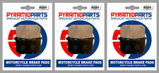 Kawasaki Z 750 LTD Belt Drive 1983 Front & Rear Brake Pads Full Set (3 Pairs)