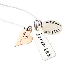 Mommy Necklace - Personalized Jewelry - Sterling Silver Hand Stamped Jewelry -