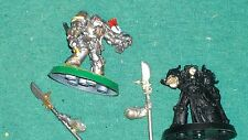 Warhammer GW Space Marines Space Grey knights terminators  metal, (2) Lot bits