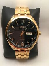 Seiko Men's SNKN48 RECRAFT Analog Display Japanese Automatic Gold Watch H17