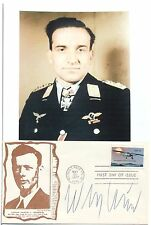 Hans Ulrich Rudel Most Highly Decorated German Pilot WW II Autograph ''Rare''