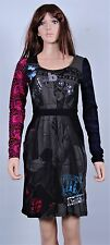 New Desigual Ladies Dress 'RAINBOW' Black&Multi, Size M