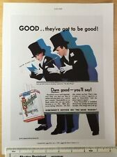 """Vintage cigarette colour advert 1931: 11"""" x 8"""" Chesterfield cigs Reprint"""
