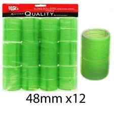 Hair Tools Cling Hair Rollers Green 48mm Large Cling Rollers x12 Sealed Pack