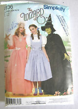 MISSES WIZARD OF OZ-WICKED WITCH-GLINDA COSTUME SEWING PATTERN SZ 6-12