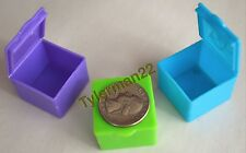6 COLORFUL MINI PLASTIC FORAGING BOXES - BIRDS SMALL PARROTS FOOT TOY PARTS