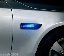 Car Air Intake Flow Vent Fender Decoration Stickers Side Cover Blue led Light