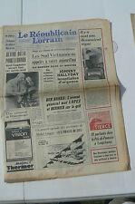 JOURNAL DE NAISSANCE 11 septembre 1966 Republicain Lorrain  11/09/1966