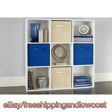 Tower Shelves White Kids Living Room 9 Cube Organizer Bookcase Storage New