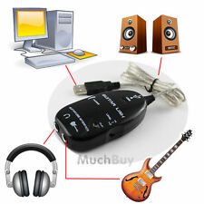 New USB to Guitar Interface Link Audio Cable for PC/MAC Recording Record Adapter