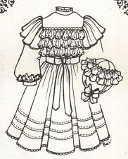 "17-18 ""DOLL DRESS pattern Victorian German French ANTIQUE vintage look 1150"