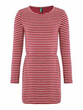 BENETTON Girls Berry Jersey Stripe Dress 3/4years - Brand New