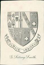 Ex-Libris 'G Sidney Smith '  Bookplate      (JC.43)