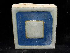 VERY RARE * Grueby Pottery Tile * SQUARE GEOMETRIC ** (SAVE U FRAME)