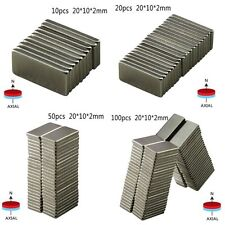 10Pcs N52 New Neodymium Block Magnet 20x10x2mm Super Strong Rare-Earth Magnets
