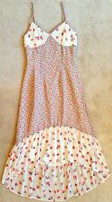 CHARLOTTE RONSON I  3 RONSON WOMENS FLORAL CHIFFON HIGH LOW PEASANT DRESS NWOT 2