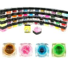 50 Colour New Authentic UV Gel Nail Art Glitter Solid Pure Transparent Set #303