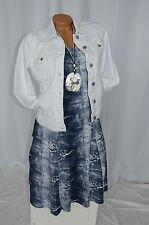 Kleid Sommer Jeans Risse Optik Used Look Exclusiv Classics & More blau Gr. 40