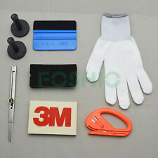 Car Wrap Vinyl Tools Kit 3M Felt Squeegee Razor Cutter Gloves 2 Magnets Knife US