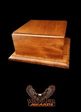 """NEW Wagler Awards Wood Trophy Base Award 10""""x10""""x4.75"""" in Cherry Color Stain"""