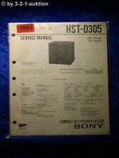 Sony Service Manual HST D305 Component System  (#1593)