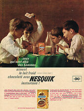 PUBLICITE ADVERTISING  1963   NESQUICK  boisson chocolatée 2