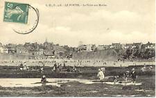LE PORTEL 438 la pêche aux moules timbrée