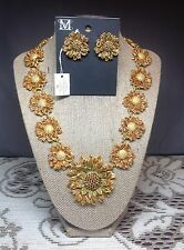 Metropolitan Museum of Art MMA 19th Century Sunflower Necklace Earring Jewelry