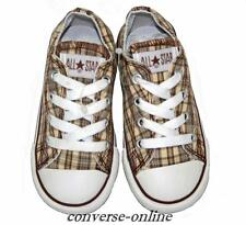 Kid Toddler Boy Girl CONVERSE All Star BROWN PLAID OX Trainer Shoes 23 SIZE UK 7