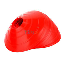 NEW 50 Red SPEED DISC CONE Sports Safety Soccer Football Cross Training Track