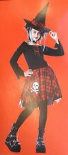 Youth Girl Tween Punky Witch Costume Sz Medium (8-10) NEW