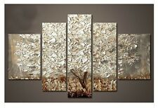 Modern Abstract Huge Wall Decor Oil Painting On Art Canvas:silver tree/no framed
