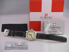 Rotary Mens St Moritz Gents Swiss Watch with Black Leather Strap GS03610/31