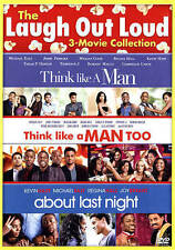 LOT OF 3 COMEDIES 2015 dvd Set THINK LIKE A MAN 1 & 2 , ABOUT LAST NIGHT