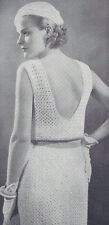 Vintage Crochet PATTERN to make Sun Dress Bolero Jacket Hat NOT finished Item