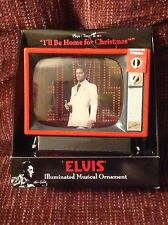 Christmas Ornament Elvis Presley Sings I'll Be Home Musical TV Television Set