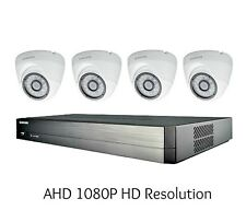 Samsung SDH-B73045 4 Channel 1080P DVR Security System, 4 HD Dome Cameras, 1TB