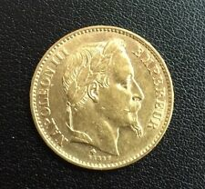 Piece 20 Francs Or Napoleon III tete laurée
