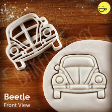 Front View Beetle Inspired Cookie Cutter | Vintage Classic Car Type 1, Käfer VW
