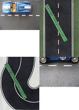 9  SHEETS ROADS EMBOSSED bumpy O Scale BLACK ASPHALT  +curve 21CM x29cm  each