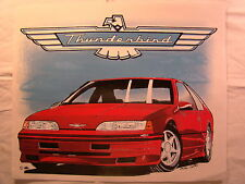 """Thunderbird Ford Red 1980's 14"""" X 11.5"""" T Shirt Iron On Heat Thermal Transfer"""