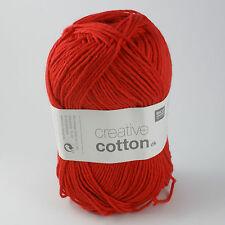 Rico Creative Cotton DK - 100% Cotton Knitting & Crochet Yarn - Red 008