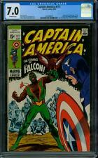 Captain America 117 CGC 7.0 - OW Pages - 1st Falcon