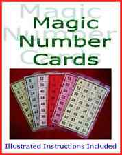 Magic Number Cards. Very Easy Childrens Magic