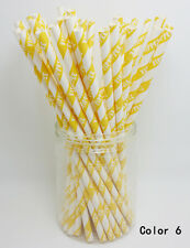25 pcs Paper Drinking Straws Creative Design Drinking Straws For Party color 6