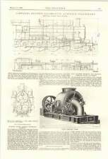 1899 Central Engineering Works Oldham Central Discharge Turbine Engine Golsdorf