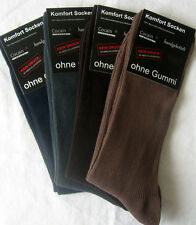 4 Paar Herren Socken ohne Gummi Diabetikersocken 100% Baumwolle 4 Farben 43 - 46